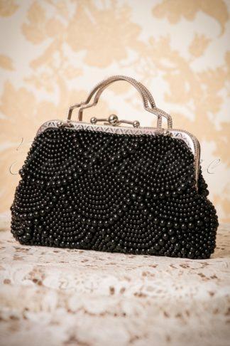 20s Agnes Beaded Handbag in Black