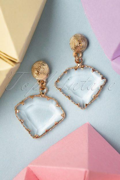 20s Frances Crystal Earrings in Gold