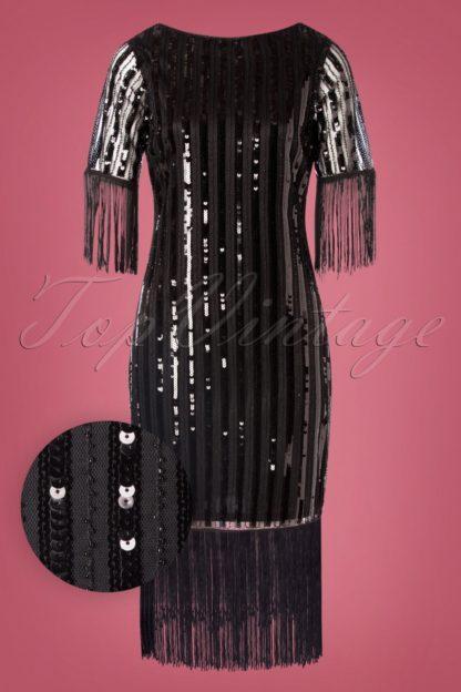 20s Marcy Fringe Dress in Black