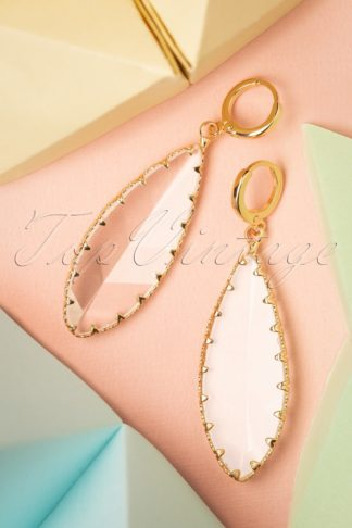20s Ruth Crystal Earrings in Gold