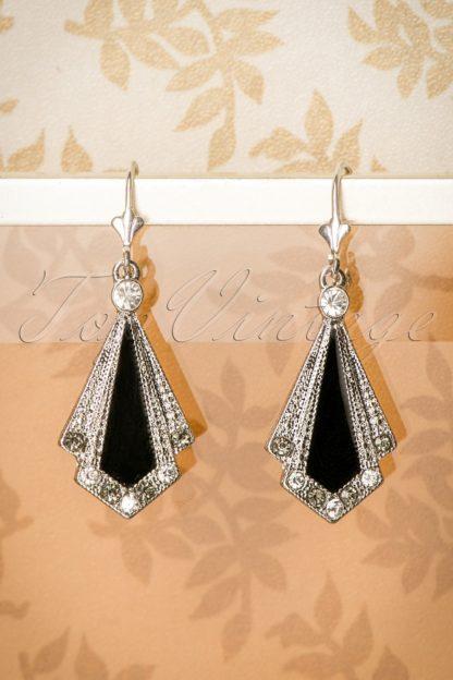 30s Art Deco Enamel Earrings