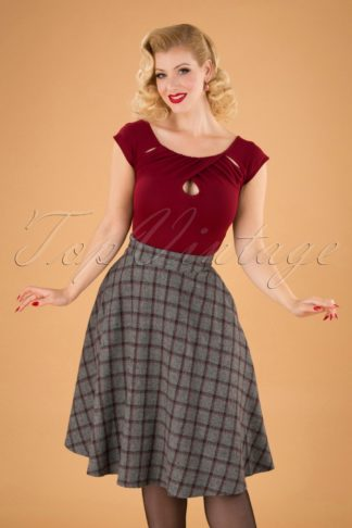40s Another Fab Swing Skirt in Grey