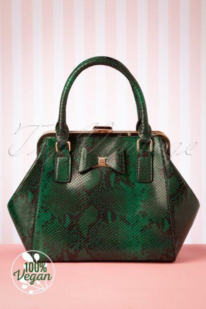 40s Molly Snake Bag in Green