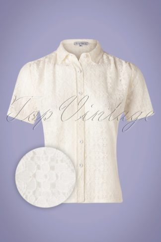 40s Montmartre Lace Blouse in Ecru