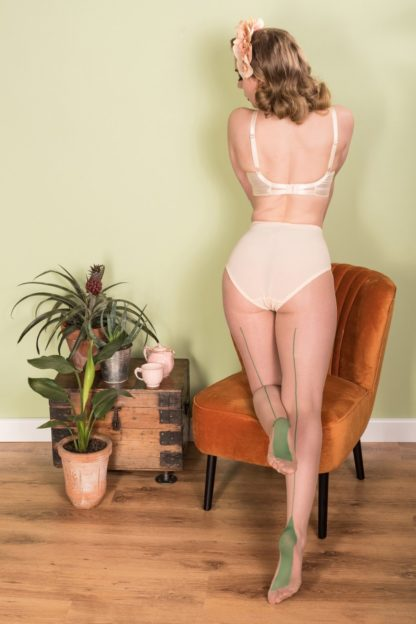 40s Retro Seamed Tights in Green