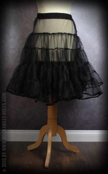 50er Jahre PinUp Petticoat - schwarz von Rockabilly Rules