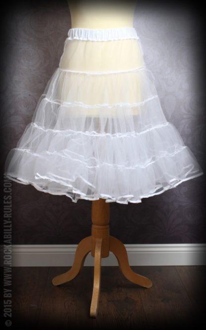 50er Jahre PinUp Petticoat - weiß von Rockabilly Rules