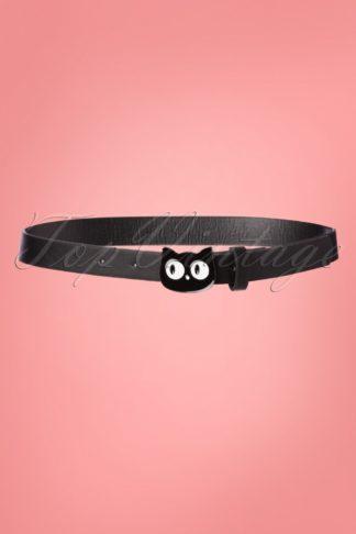 50s Addis The Cat Belt in Black