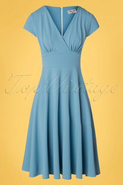 50s Addison Swing Dress in Pretty Blue