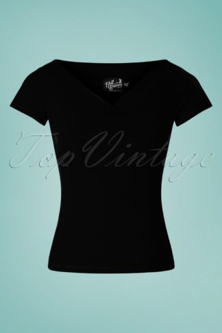 50s Alex Top in Black