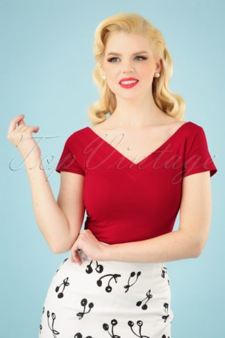 50s Alex Top in Red