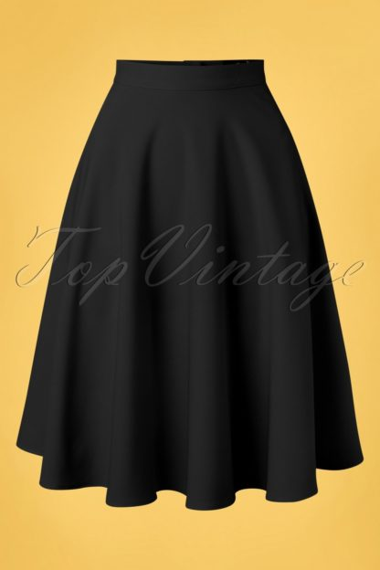 50s Amelie Swing Skirt in Black