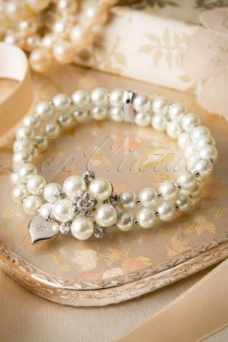 50s Audrey Cream Pearl Bracelet