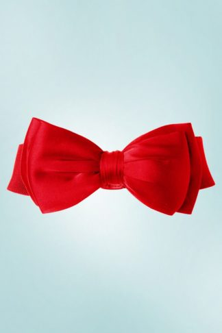 50s Bella Bow Belt in Deep Red