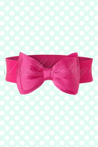 50s Bella Bow Belt in Pink