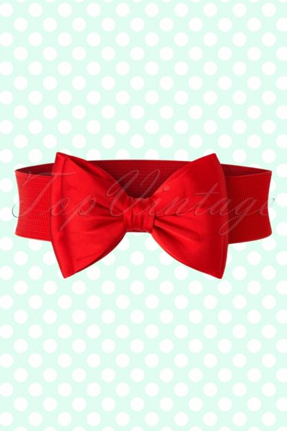 50s Bella Bow Belt in Red