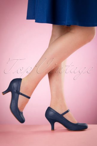 50s Bettie Pumps in Navy