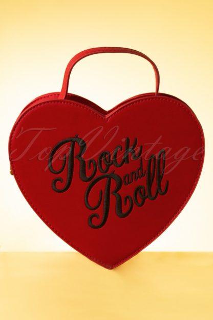 50s Bina Heart Bag in Red