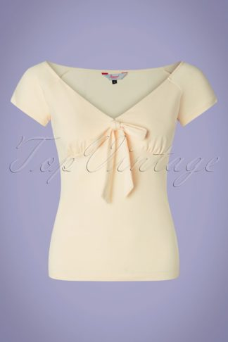 50s Bow Wow Top in Cream