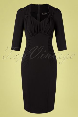 50s Camilla Pencil Dress in Black