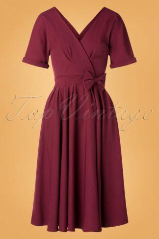 50s Caricia Swing Dress in Wine
