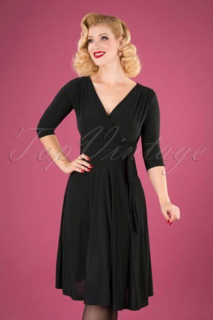 50s Cassandra Midi Dress in Black