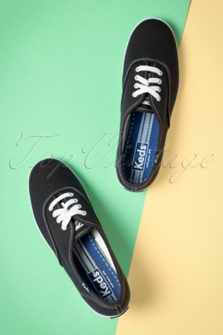 50s Champion Core Text Sneakers in Black