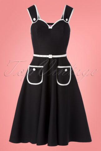 50s Cheesecake Swing Dress in Black and White