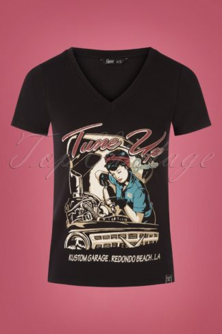 50s Classic Tune Up T-Shirt in Black