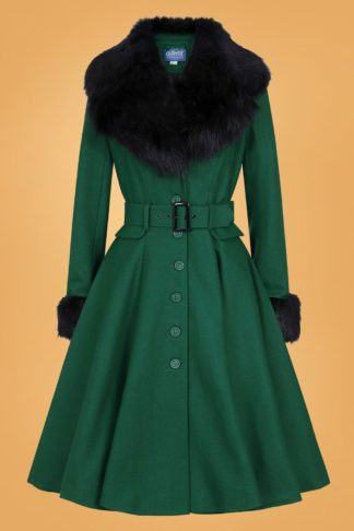 50s Cora Swing Coat in Green