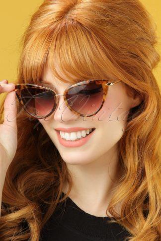 50s Dita Cat Eye Sunglasses in Tortoise