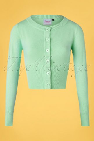 50s Dolly Cardigan in Mint Green