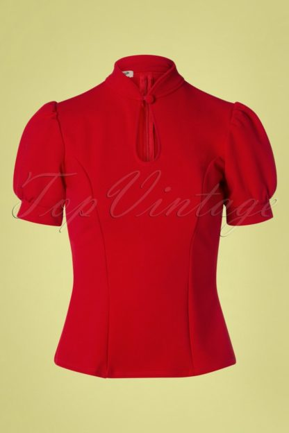 50s Fenna Top in Red