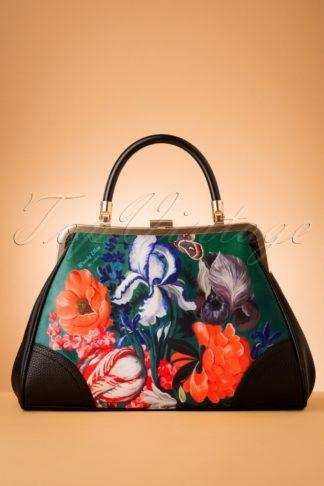 50s Forest Retro Handbag in Black
