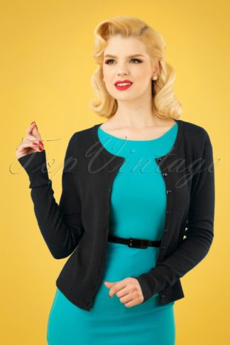 50s Getaway Cardigan in Black