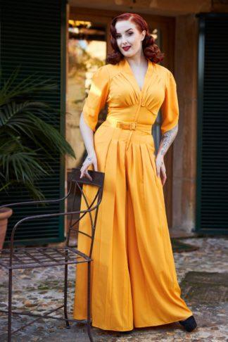 50s Giada Jumpsuit in Sun Yellow