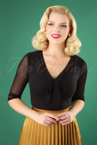 50s Inspire Top in Black