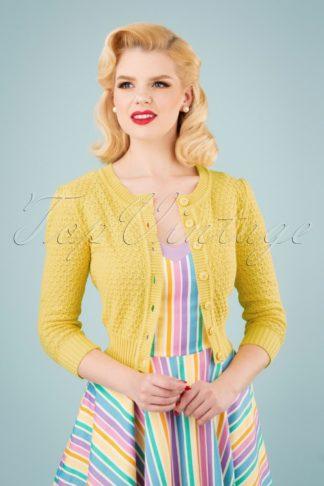 50s Jennie Cardigan in Baby Yellow
