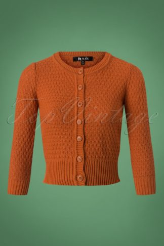 50s Jennie Cardigan in Dusty Orange