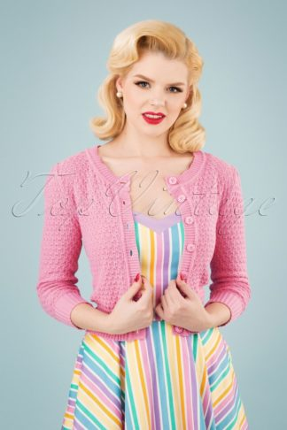 50s Jennie Cardigan in Light Pink