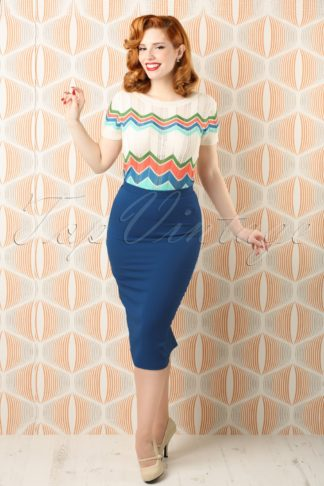 50s Joni Skirt in Navy