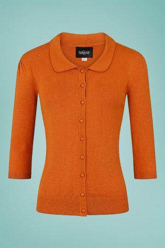 50s Jorgie Knitted Cardigan in Orange