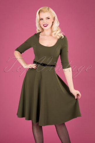 50s Juliana Swing Dress in Khaki