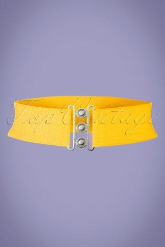 50s Lauren Vintage Stretch Belt in Yellow