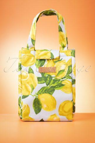 50s Lemon Lunch Bag in Multi Yellow