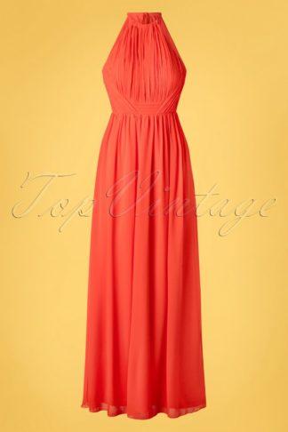 50s Lillian Maxi Dress in Salsa Red