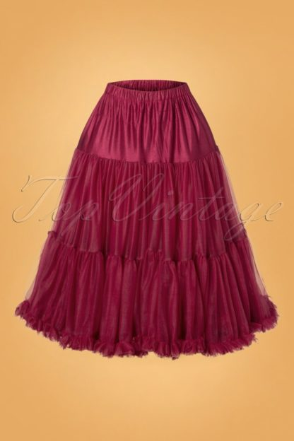50s Lola Lifeforms Petticoat in Bordeaux