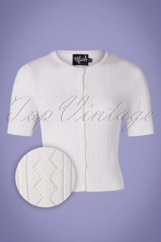 50s Loretta Cardigan in White