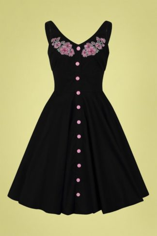 50s Lucy Mid Dress in Black