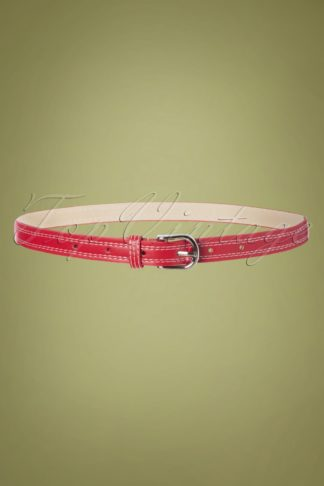 50s Lynn Belt in Red